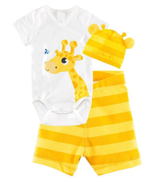 Baby Animal Romper 3 Piece Set