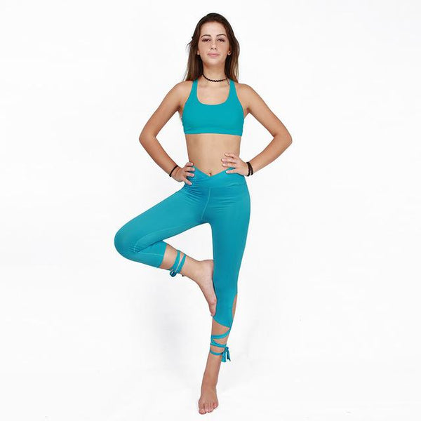 Tie-Leg Cropped Leggings