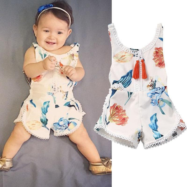 Baby Vintage Floral Jumpsuit - FREE Today
