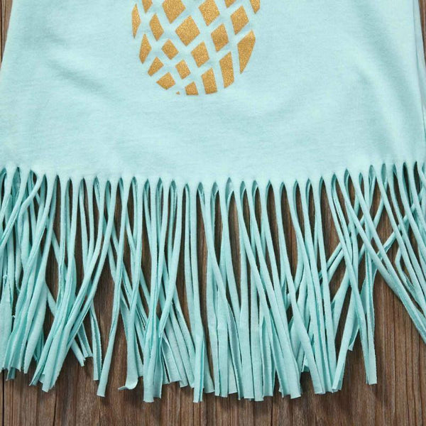 Pineapple Fringe Beach Dress for Kids