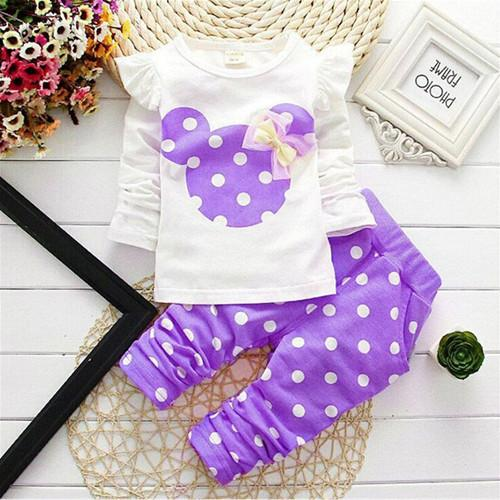 Girls Minnie Mouse 2 Piece Set