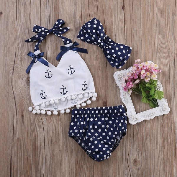 Baby Girls Anchor Halter Top 3 Piece Set - FREE OFFER