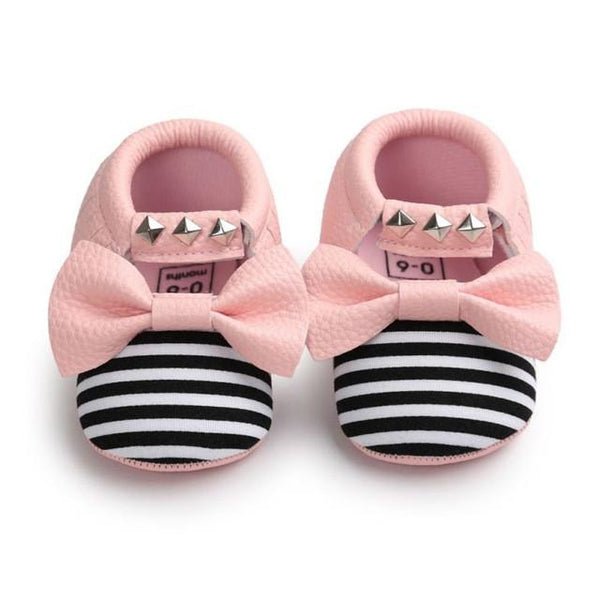 Baby Studded Moccasins