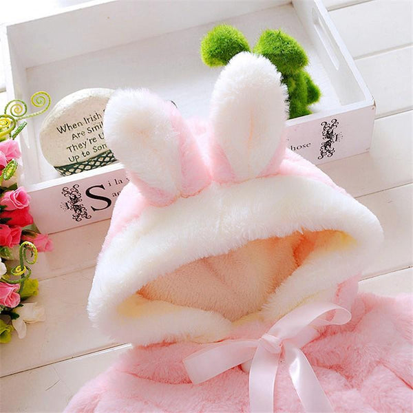 Baby Plush Bunny Ear Coat
