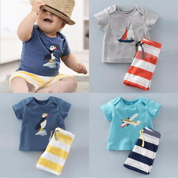 Boys Striped Summer 2 Piece Set