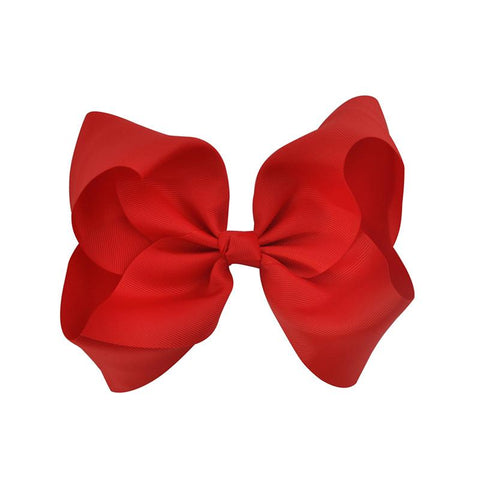 Baby Red Bow Clip