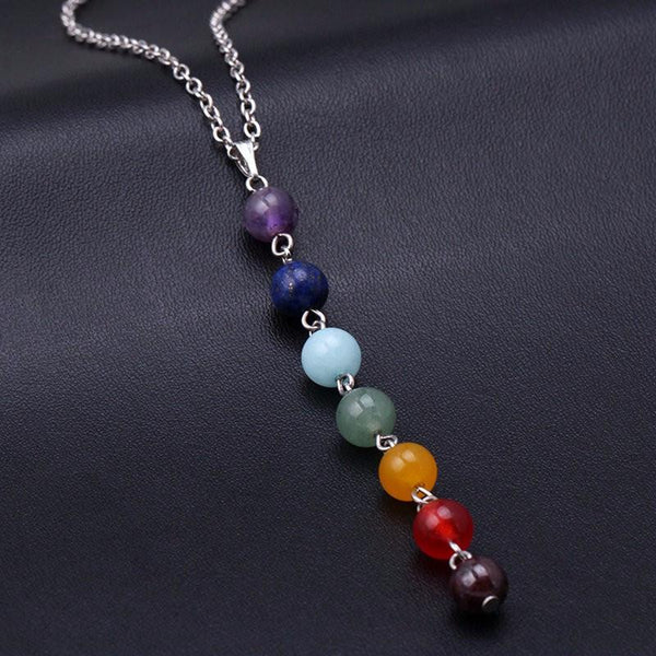 Chakra Natural Stone Pendant and Necklace