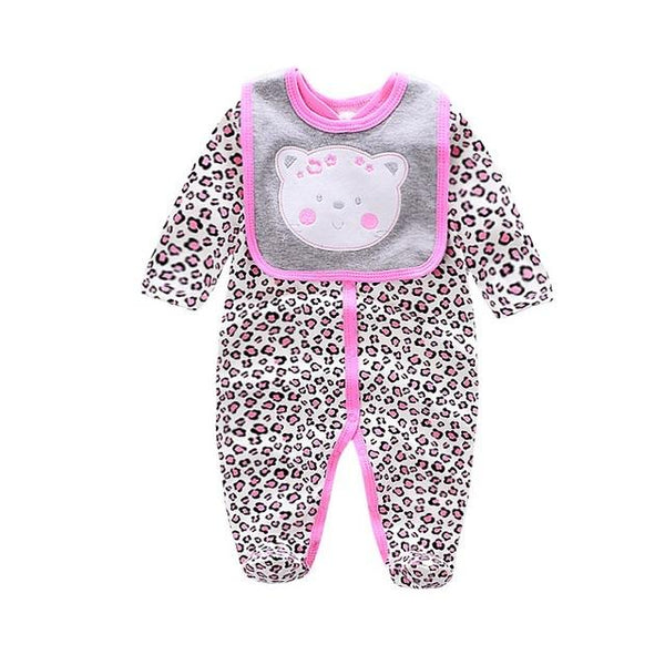 Baby Animal Romper and Bib Set