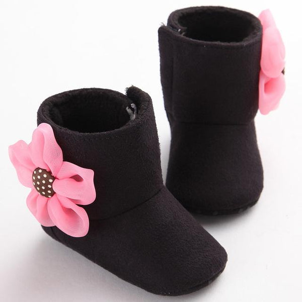 Baby Soft-Sole Flower Boots