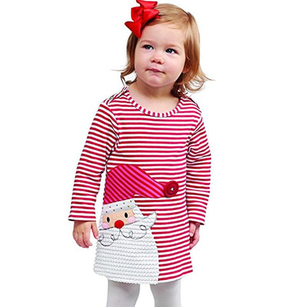 Baby Striped Holiday Character Dress