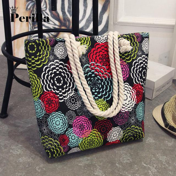 Women's Canvas Patterned Tote