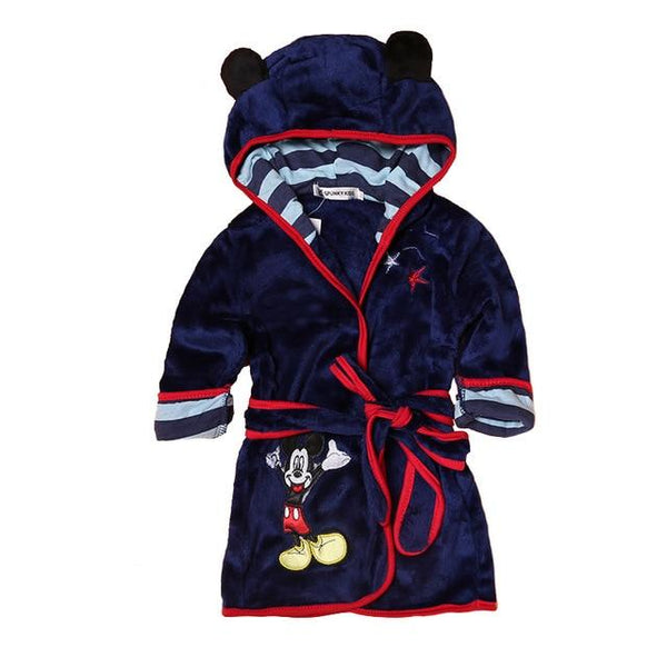 Cartoon Kids Hooded Bath Robes