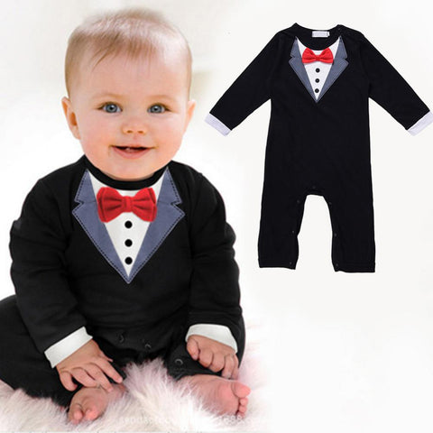 Baby Boy Gentleman Suit Romper