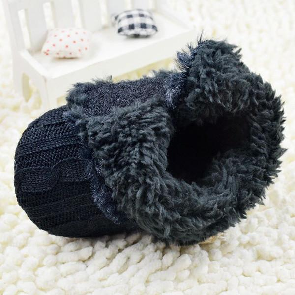 Sweater Knit Fleece Boots for Infants
