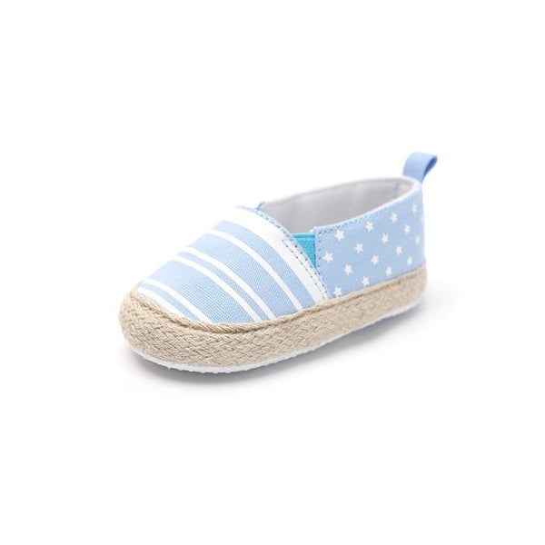 Baby Striped Slip-On Shoes