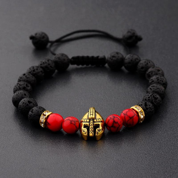 Resizeable Lava Rock  Spartan Bracelet