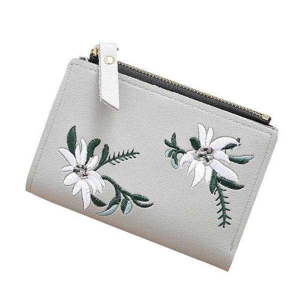 Floral Zipper Wallet