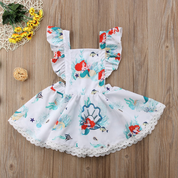 Girls Little Mermaid Scalloped Dress