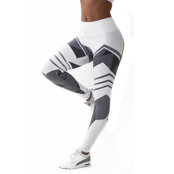 Women's Geo Print Running Leggings