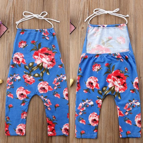 Kids Flower Halter Jumpsuit