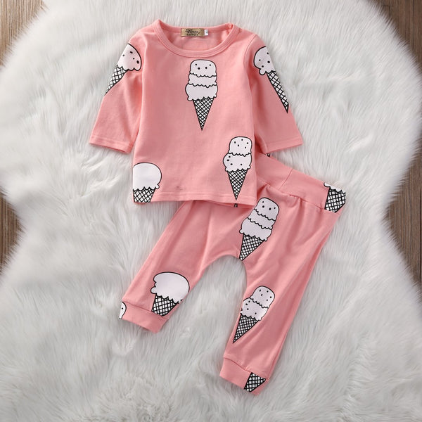 Baby Girls Ice Cream Pajama Set