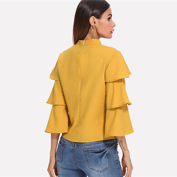 Women's Tiered Ruffle Blouse