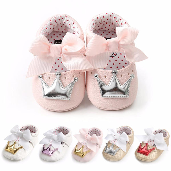 Baby Girl Princess Bow Shoes