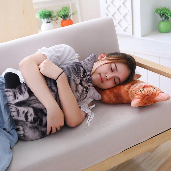 Plush Cat Pillow