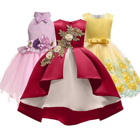 Girls Silk Princess Dress