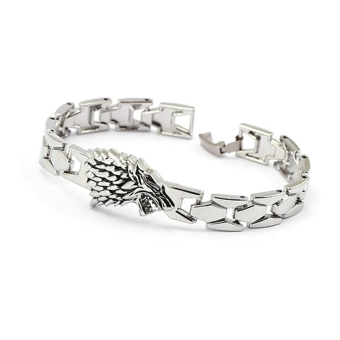 Game of Thrones House of Stark's silver bracelet