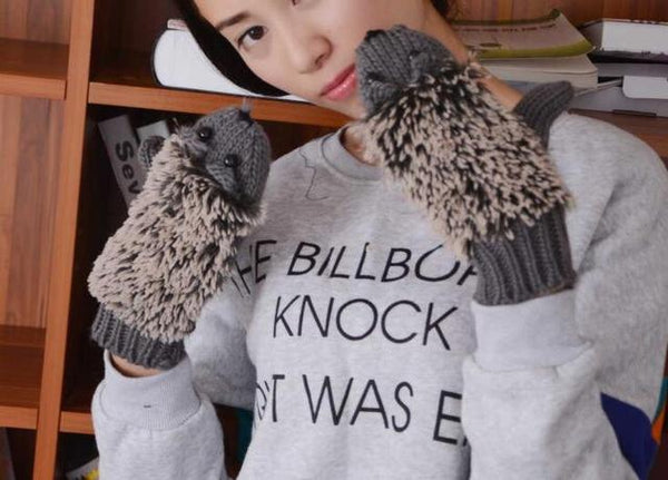 Women's Hedgehog Gloves