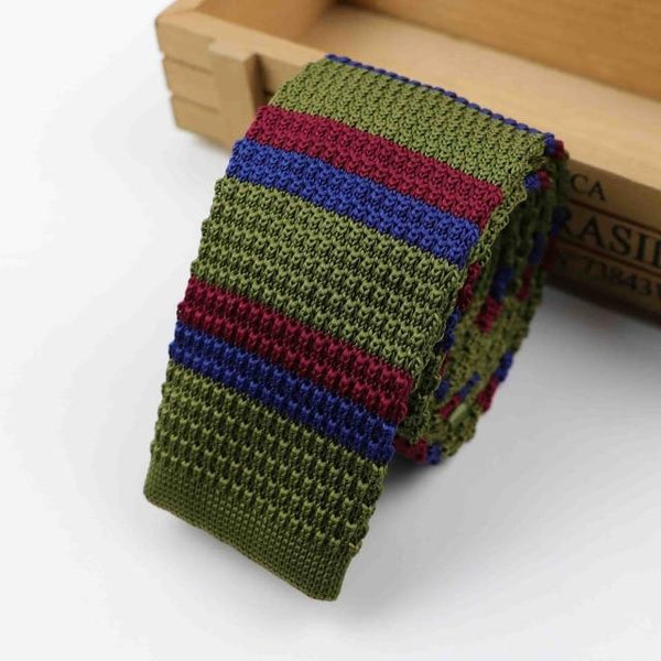 Men's Knitted Patterned Ties