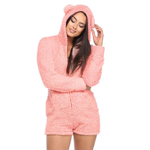 Women's Hooded Bear Onesie