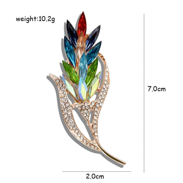 Women's Multi-Color Rhinestone Brooch