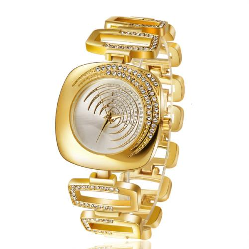 Golden Rhinestone Watch