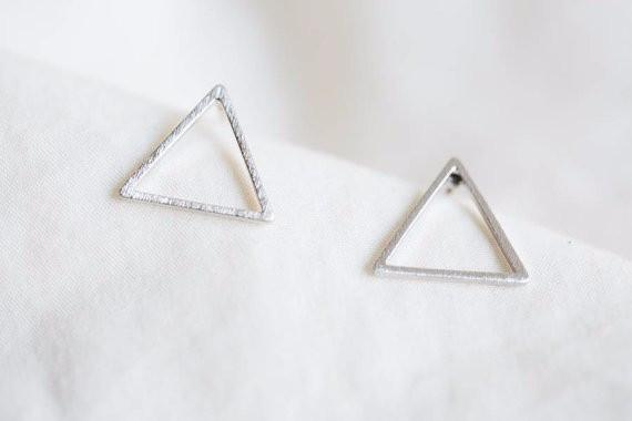 Triangle Cutout Earrings