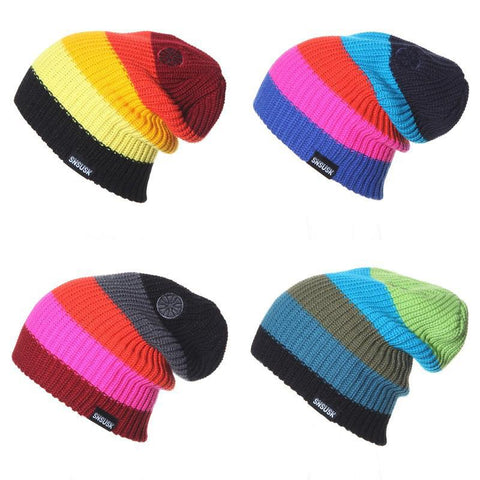 Multicolor Striped Beanie