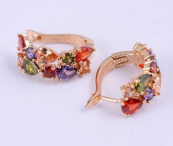 Women's Multicolor Gem Earrings