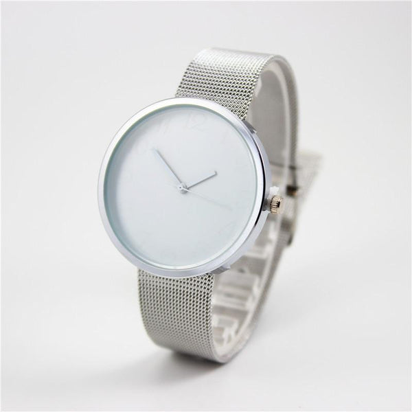 Colorblock Steel Mesh Watch