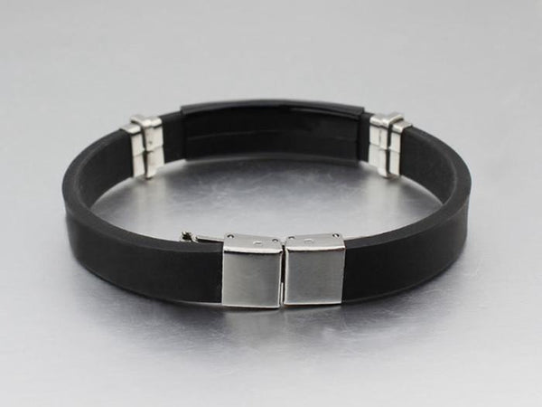 Greek Motif Steel Bracelet