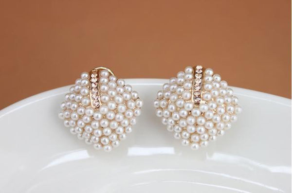 Miniature Pearl Cluster Earrings