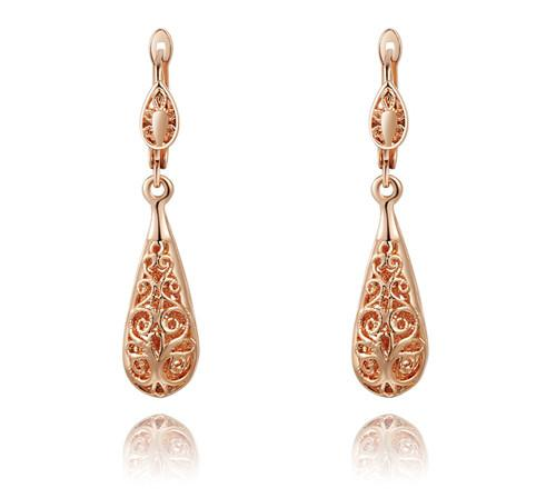 Hollow Cutout Teardrop Earrings