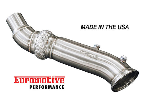 "Euromotive 4.5"" Race Downpipe (A90/MKV Toyota GR Supra)"
