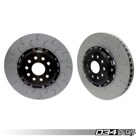 034Motorsport 2-Piece Floating Front Brake Rotor Upgrade (MQB w/ 340mm Rotors)