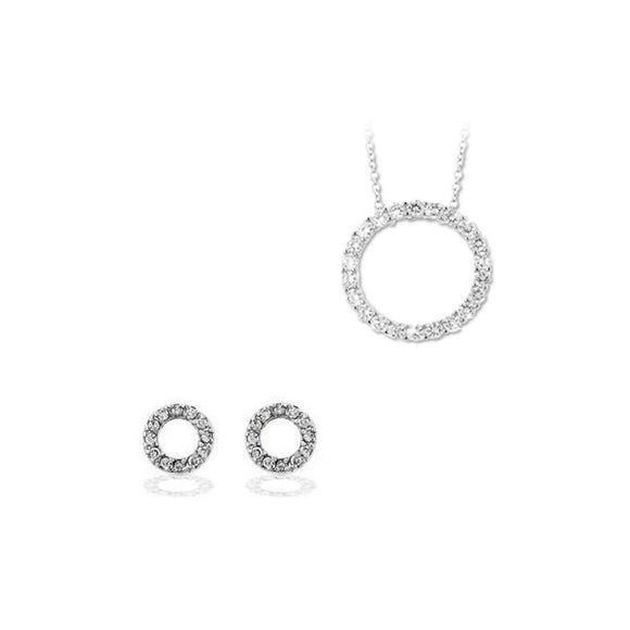 Circle of Love Necklace & Earrings