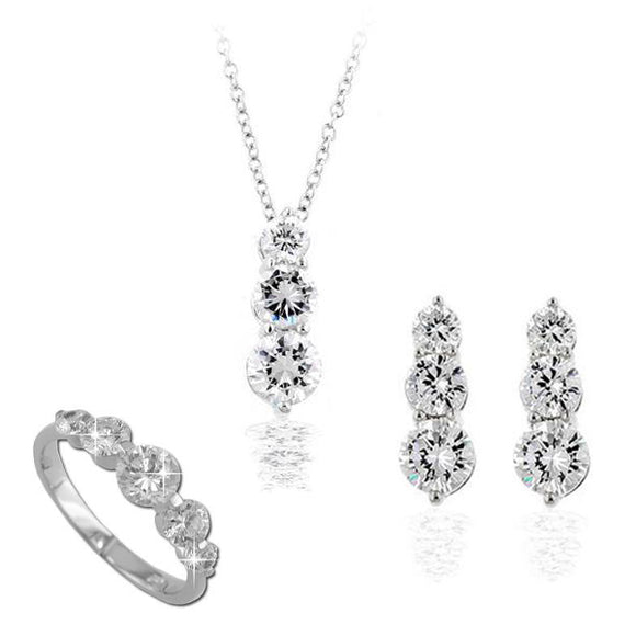 Classic Graduated Rounds Pendant & Earrings