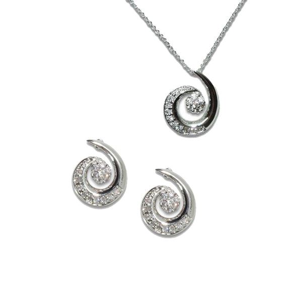 Swirl Pendant & Earrings