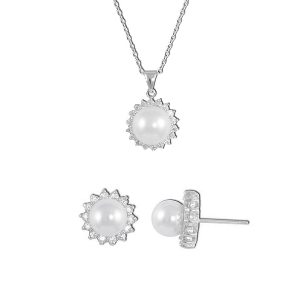 Venus Pearl Pendant & Earrings