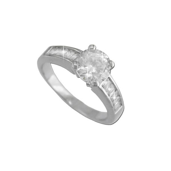Prong Set Round Cut Ring