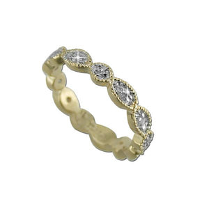 Gold Modern Eternity Band Ring